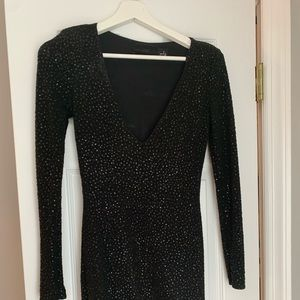 Black glitter sparkle dress